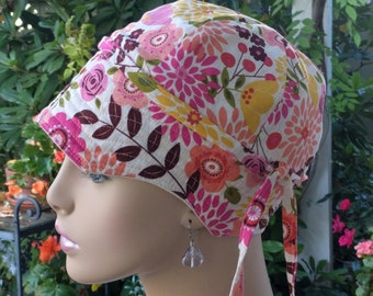 Women's Cancer Hats ON SALE Chemo Caps Hair Loss Hats. Made in the USA. Reversible Medium