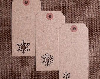 Large Snowflake Gift Tags, Christmas Gift Tags, Winter Wedding Favor Tags, Holiday Gift Tags, Blank Gift Tags, Present Tags, Parcel Tags(24)