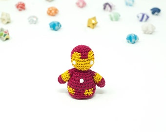 Iron Man / Marvel / Crochet / Amigurumi / Plushie / Miniature / Sale / READY TO SHIP