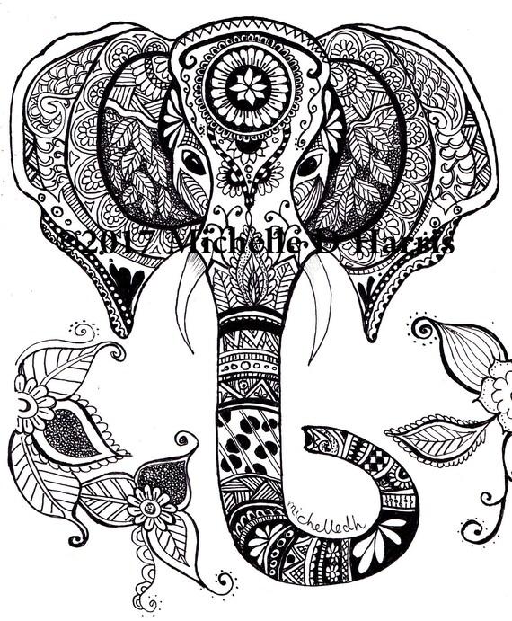 zentangle elephant print mandala elephant print elephant