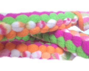 Sherbet Braided Dog Pull Toy - strong chew toy, tough chew dog toy, fleece dog toy