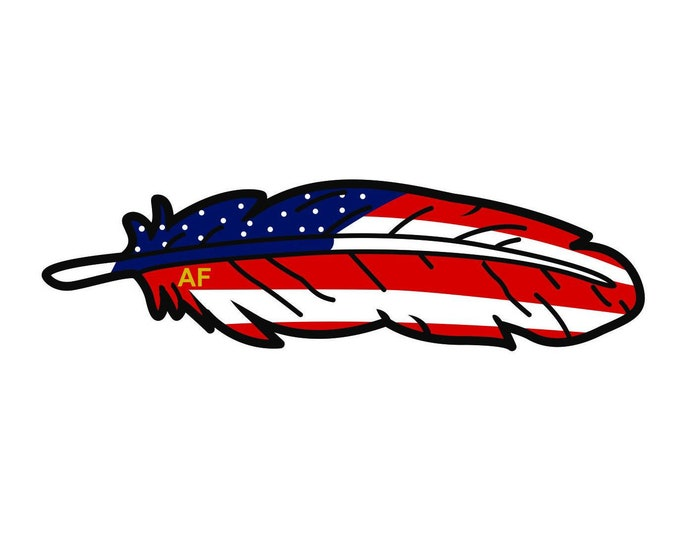 Official Classic American Feather Decal