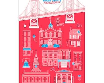 Old City, Philadelphia - Intricate Digital Line-Art Print