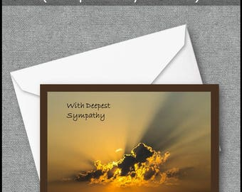 Sympathy Card, Printable Sympathy Card,Instant Download, Bereavement Card, Condolences Card,  Loss of Loved One, Grief, Loss