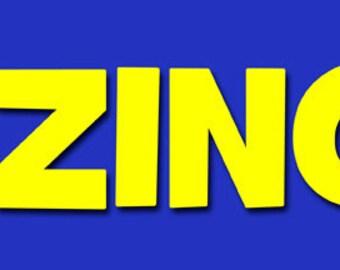 "BAZINGA  Bumper Sticker--11"" x 3"""