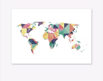 World map pin board etsy world map print world map wall art world map canvas world map poster gumiabroncs Gallery
