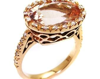 Morganite Ring .