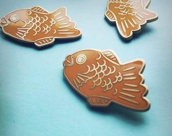 SECONDS SALE - Japanese taiyaki pin - Hard enamel
