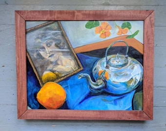 Heirloom Still life original painting by VictoriaCableArt