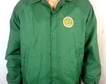 vtg 70s 80s insulated windbreaker ICE Patch Logo Jacket indie punk SZ L