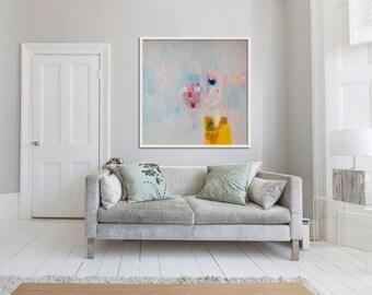 "giclée print, ABSTRACT PRINT, pink, blue, yellow, "" Glitterati 5"""
