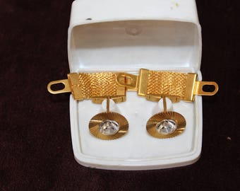 Gold-plated Soviet sacking Cuff links For Man