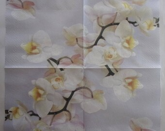 paper Orchid branch No. 14 napkins   3428