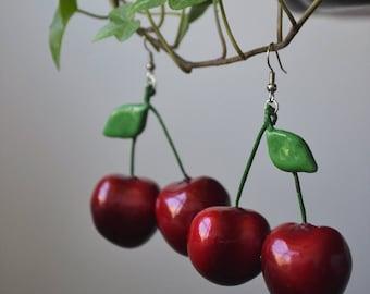 PREORDER** Double Cherry Earrings