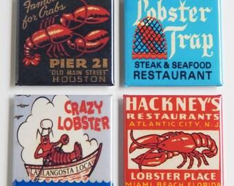 Lobster Restaurant Fridge Magnet Set