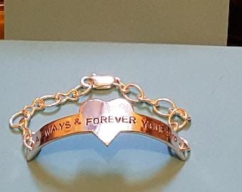Bracelet,Personalised,Gift,Valentine,birthday,mothers day,sister, baby shower,10th wedding anniversary