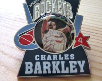 Vintage Charles Barkley Houston Rockets 1997 NBA Lapel/ Hat Pin
