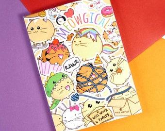 Fuzzballs Sticker Memo Pad Planner Kawaii Stationery diary Cute Japanese Notepad note book Idea School A7 Cuteness Stocking Stuffer
