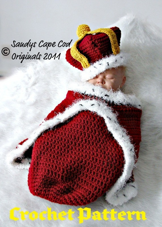 Crochet Prince Or Princess Cocoon And Hat Crochet Pattern