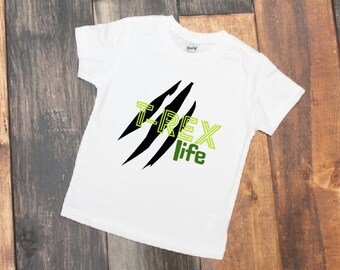 Trex life - trex boys shirt - boys dinosaur shirt - dinosaur - toddler boys shirt - trex dinosaur - dino shirt - little boys shirt - dino