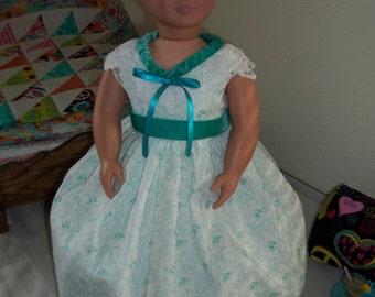 Southern bell dress and hoop underskirt