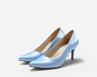 Light blue pumps | Etsy