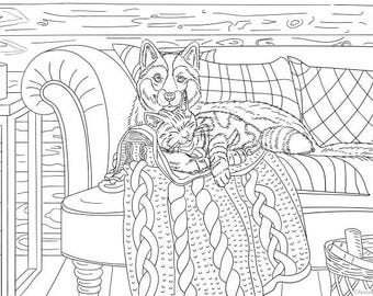 Guardian  - Printable Adult Coloring Page from Favoreads (Coloring book pages for adults, Coloring sheets, Coloring designs)