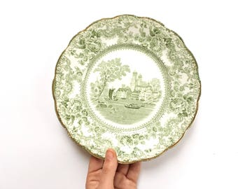 Antique plates vintage plate collection plate 19th century china Colonial Pottery Togo 1891 green antique dish  sc 1 st  Etsy & Colonial plates   Etsy