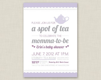 Tea Party Bridal Shower Invitation / Baby Shower Invitation