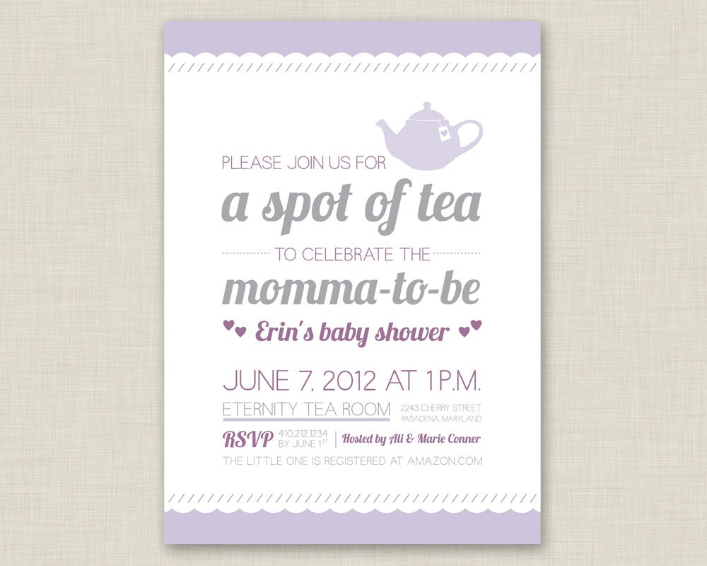 Tea Party Bridal Shower Invitation / Baby Shower Invitation