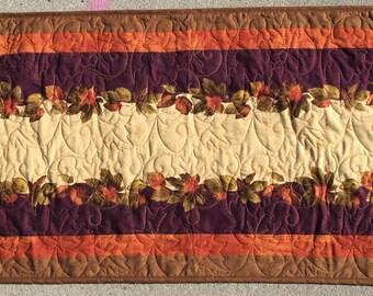 Fall Leaf Table Runner, Autumn Leaf Table Runner, Fall Table Runner