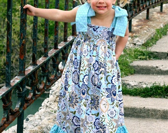 Helen's Maxi Dress PDF Pattern sizes 12-18 months to 8 girls