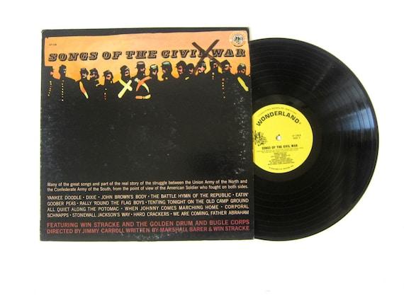 Songs of the Civil War Vinyl Record Album 12 Inch LP Vintage Music RCA Wonderland Record Album