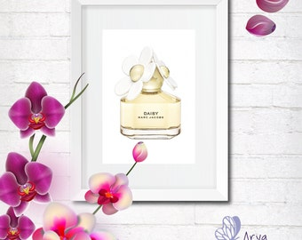 Marc Jacobs perfume bottle, fashion illustration, wall decor home and office, gift card