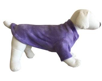 Fleece dog shirt purple swirl puppy sweater war dachshund sweatshirt fleece dog pajamas small medium large xl
