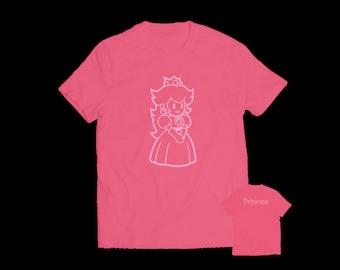 Princess Peach Mario Brothers Youth T-shirt