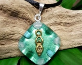 EMOTIONAL HEALING Orgone Pendant – Rose Quartz, Turquoise and Aventurine – Release the Past, Heal Negative Patterns and Habits - Small