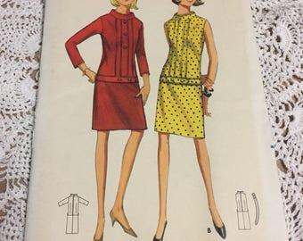 Butterick 4302 - 1960's Slip Shift Dress Pattern
