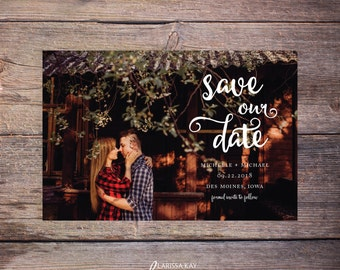 Modern Save our Date Invite, Save-the-Date Card Photo, Save the Date Invitation, DIY Printable, Digital File - Michelle