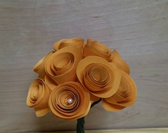 "Paper rose bouquet ""goldenrod"""