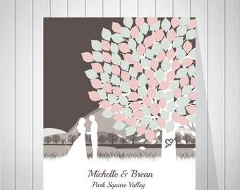Signature Wedding Tree Guestbook | Modern Wedding Guest Book | Alternative Guest Book | Personalized Guestbook | Canvas Print  - 39277