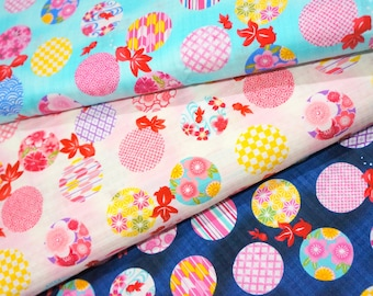 Kimono print Japanese fabric Half meter 50 cm by 106 cm or 19.6 by 42 inches nc32