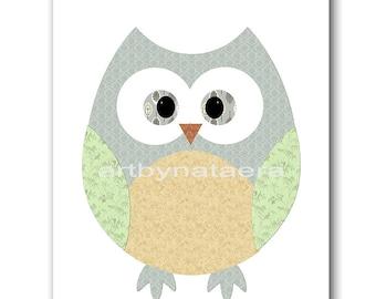 Owl Decor Owl Nursery Kids Wall Art Baby Nursery Decor Baby Boy Nursery Kids Art Baby Room Decor Nursery Print Boy Print Owl Gray