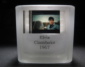 ELVIS PRESLEY - Clambake - Film Cell Votive - Glass Tea Light