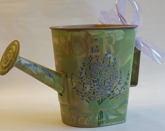"""Large Watering Can Planter """"LAVENDER 2"""" from the HERBORISTE collection"""
