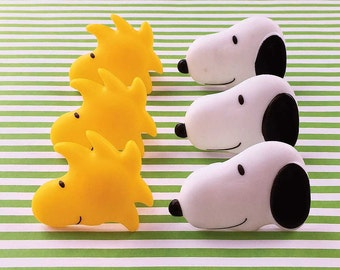 Peanuts® Snoopy and Woodstock Cupcake Rings (12), Snoopy Cake Picks, Pinata Filler, Loot Bag Filler, Party Favor, Snoopy Birthday Party