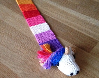 Crochet Bookmark Unicorn/Unicorn
