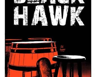 SILKSCREEN Black Hawk Pub