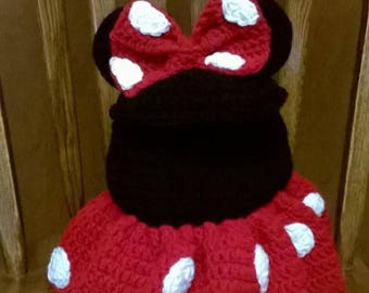 Knitted Minnie Mouse Backback