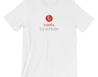 """Beets by Schrute Tee - Funny Dwight Schrute """"The Office"""" Fan Parody Novelty Gift T-Shirt"""